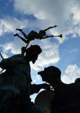 Escultura de Caragealiana em Bucareste, Romênia Fotografia de Stock