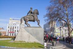 Escultura de Cossac en Krasnodar Fotografía de archivo