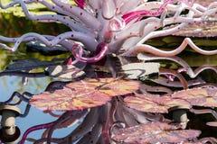 Escultura de cristal grande Fotos de archivo