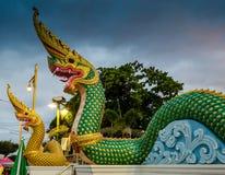 Escultura de dois Nagas Fotos de Stock Royalty Free