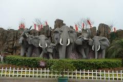 Escultura de Elephents Imagem de Stock Royalty Free