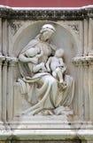 Escultura de Fonte Gaia, Siena, Toscânia, Itália Imagens de Stock