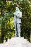 Escultura de Franz Stelzhamer, em Linz, Upper Austria Fotos de Stock