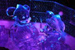 Escultura de gelo Bruges 2013 - 07 Fotografia de Stock Royalty Free