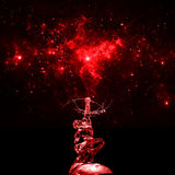 Escultura de gelo de Hou Yi da fada sob o fundo estrelado Foto de Stock Royalty Free