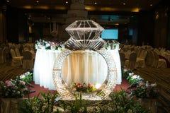 Escultura de gelo do anel de diamante Imagens de Stock Royalty Free