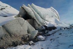 Escultura de gelo em Russell Glacier Fotos de Stock Royalty Free
