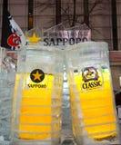 Escultura de gelo de Sapporo durante o festival 2018 de neve de Sapporo fotografia de stock royalty free