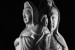 Escultura de Guan Yin /Guanshiyin do Bodhisattva/de Avalokitasvara Imagem de Stock