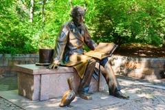 Escultura de Hans Christian Andersen no Central Park, New York City Foto de Stock Royalty Free