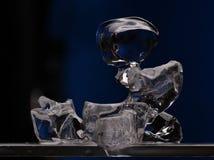 Escultura de hielo fotografía de archivo