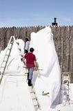 Escultura de hielo Fotos de archivo libres de regalías