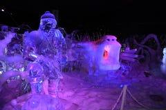 Escultura de hielo Brujas 2013 - 06 Imagenes de archivo