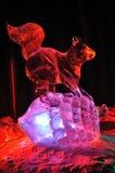 Escultura de hielo de la ardilla Imagen de archivo