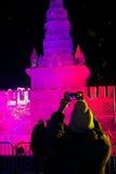 Escultura de hielo de la Moscú el Kremlin Fotos de archivo libres de regalías