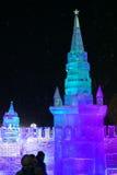 Escultura de hielo de la Moscú el Kremlin Imagen de archivo libre de regalías