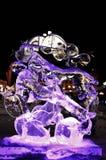 Escultura de hielo de un dragón Foto de archivo libre de regalías