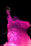 Escultura de hielo de un dragón Imagen de archivo