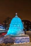 Escultura de hielo de un dragón El Mudeum de RosTech Foto de archivo libre de regalías
