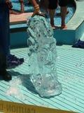 Escultura de hielo india Imágenes de archivo libres de regalías
