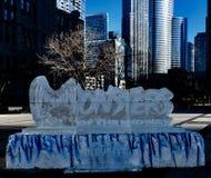 Escultura de hielo de los Chicago Bears #1 fotografía de archivo libre de regalías