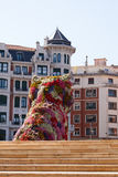 Escultura de Jeff Koons Puppy, Guggenheim, Bilbao Fotos de Stock Royalty Free