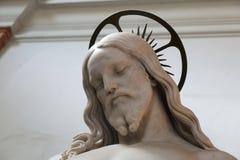 Escultura de Jesus Christ na basílica de Saint John Lateran foto de stock