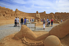 Escultura de la arena Fotografía de archivo