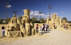 Escultura de la arena Fotografía de archivo libre de regalías