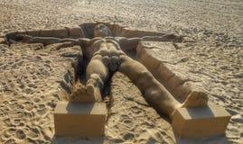 Escultura de la arena Foto de archivo libre de regalías