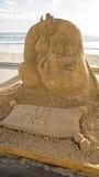 Escultura de la arena de la película de Alladin Foto de archivo libre de regalías