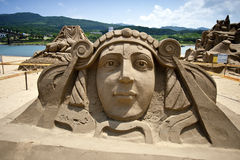 Escultura de la arena de la reina Foto de archivo