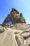 Escultura de la arena de mujeres del condado de huian Fotos de archivo