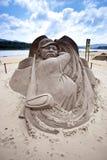Escultura de la arena de Yani Tseng del jugador de golf Foto de archivo