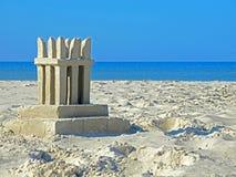 Escultura de la arena en la playa Imágenes de archivo libres de regalías