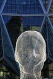 Escultura de la cara Foto de archivo