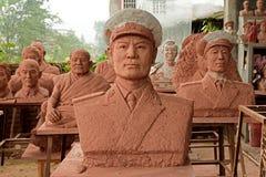 Escultura de la China-arcilla de Yijing del retrato Imagen de archivo libre de regalías