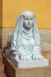 Escultura de la esfinge en el pabellón Imagenes de archivo