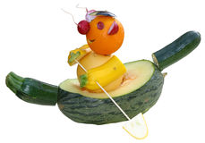 Escultura de la fruta Fotografía de archivo libre de regalías
