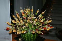 Escultura de la fruta Foto de archivo