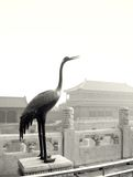 Escultura de la grúa, Pekín fotos de archivo