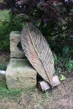 Escultura de la hoja Imagen de archivo