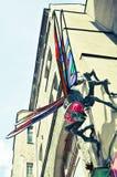 Escultura de la libélula en Wroclaw, Polonia Fotografía de archivo