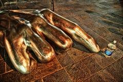 Escultura de la mano fotografía de archivo