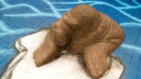 Escultura de la morsa Imagen de archivo libre de regalías