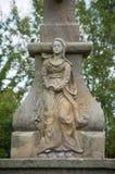 Escultura de la mujer en piedra arenisca Cervena Voda Imágenes de archivo libres de regalías