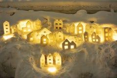 Escultura de la nieve Imagen de archivo libre de regalías