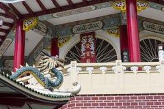 Escultura de la pagoda y del dragón del templo del Taoist en Cebú, Philip Fotografía de archivo libre de regalías