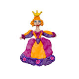 Escultura de la princesa 3D de la plastilina aislada en blanco Foto de archivo
