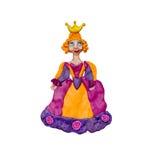 Escultura de la princesa 3D de la plastilina aislada en blanco Imagen de archivo libre de regalías